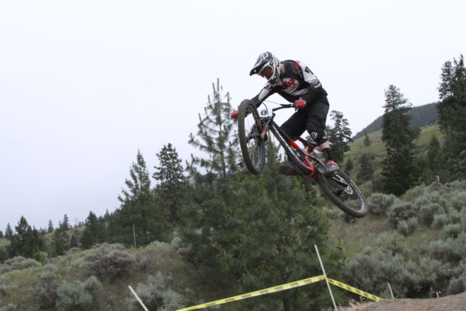 Kamloops has always had a  big freeride influence, and a stepup triple in the middle of the course was a good way of reminding the riders that.